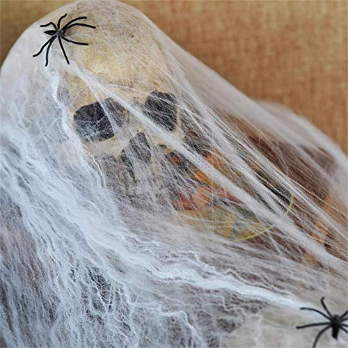 ZHANGJI Halloween deko Garten-4 STÜCKE Spinnennetz Spinnennetz Prop für Halloween Home Bar Party Festival Decorati Ankunft