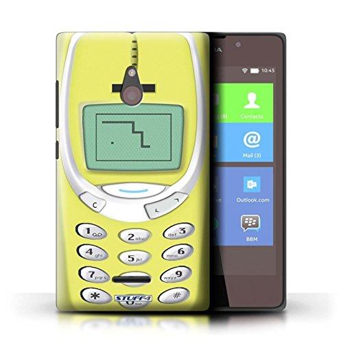 Kobalt® Imprimé Etui / Coque pour Nokia XL / Nokia 8210 vert conception / Série Portables rétro Nokia 3310 jaune