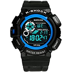 Mens waterproof digital watches/Multifunctional outdoor sports watches/Casual fashion watches-D