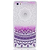 KSHOP Slim Thermoplastic Polyurethane Silicone Case for Huawei P8 Lite with Print Pattern Colourful Butterflies image