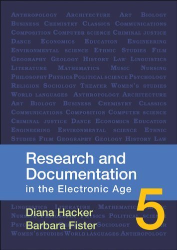 Research and Documentation in the Electronic Age by Diana Hacker (2010-04-26) par Diana Hacker;Barbara Fister