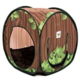 2-in-1 Schlafhöhle mit Tunnel für Kleintiere Katzen Welpen Spielhaus - 2