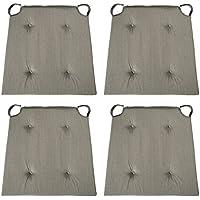 sleepling 190191 Basic 10 bequemes Stuhlkissen/Sitzkissen für Indoor und Outdoor 4er Set grau