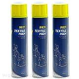 3 x Polster Aktivschaum Reiniger Teppichreiniger Spray 650ml