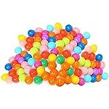 Amazingdeal365 Pelotas Multicolores de Plástico del Océano Gracioso para llenar Piscinasen Parque Infantil Regalo para los Niños (100Pcs)