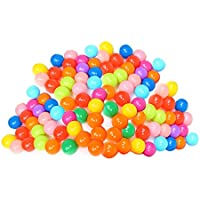 Amazingdeal365 Pelotas Multicolores de Plástico del Océano Gracioso para llenar Piscinasen Parque Infantil Regalo para los