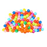 #6: Rrimin Play Tent Accessories Toy Colorful Ball Soft Plastic Ocean Ball Funny Baby Kid Swim Pit Toy (100Pcs)