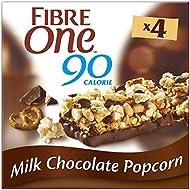 Fibre One 90 Calorie Milk Chocolate Popcorn Bars 4x21g (Pack of 8)