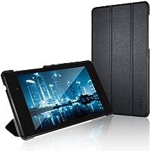 JETech Gold Nexus 7 Slim-Fit Smart Case Cover funda carcasa con incorporado de atri y doble protección para Google Nexus 7 2013 Tablet (Negro) - 0530