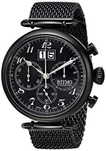 Ritmo Mundo Unisex 702/5 Black Corinthian Analog Display Quartz Black Watch