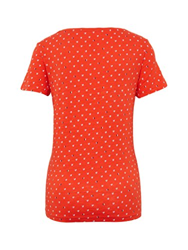 TOM TAILOR Damen T-Shirt Valentine Heart Shirt grenadine red