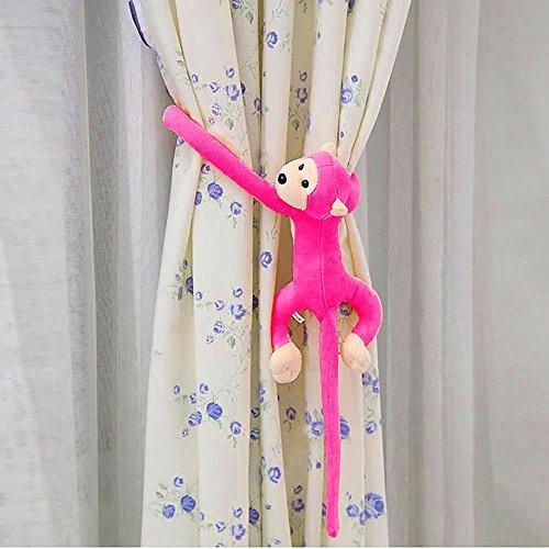 VANKER 60cm Gibbon brazo largo de la cola del mono Animales de precioso suaves cortinas que cuelgan de la felpa del juguete--melocotón