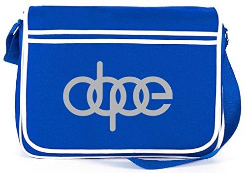 Shirtstreet24, Dope Ringe, Retro Messenger Bag Kuriertasche Umhängetasche Royal Blau