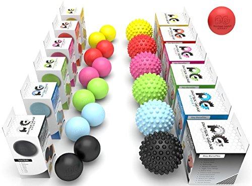 Physix Gear Sport Professionelle Massagebälle - Lacrosse Ballset or Igel-Massageball Fußmassage – Tiefengewebsmassage, Akupressur, Plantarfasziitis, Stresstherapie, Reflexzonenmassage - GRATIS EBOOK