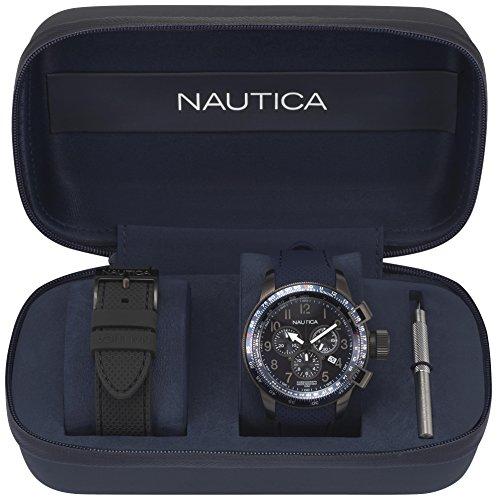 Nautica orologio analogueico quarzo uomo con cinturino in silicone napgly001