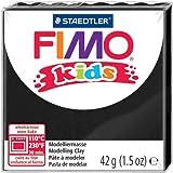 FIMO Lot de 3 kids Pâte à modeler, durcissante au four, noir, 42 g