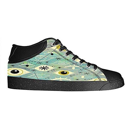 Dalliy augen muster Men's Canvas shoes Schuhe Laceup Hightop