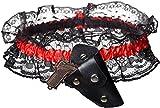 Damen Kostüm Zubehör Strumpfband Cowgirl mit Holster Mini-Pistole