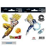 1art1 78536 Dragonball Z - Son Goku Fighting, 2 Blätter Aufkleber Pack 15 x 10 cm