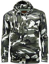 Mens camouflage camo hooded fleece sweatshirt.