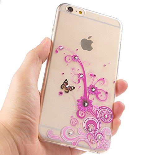 iPhone 7 Plus Hülle Silikon,iPhone 7 Plus Hülle Glitzer,iPhone 7 Plus Crystal TPU Bumper Case Soft Transparent Silikon Gel Schutzhülle Cover,iPhone 7 Plus Hülle (5.5 Zoll) Cristall,EMAXELERS iPhone 7  TPU 68