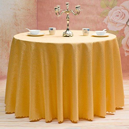 Tischdecken Restaurant Hotel Küchentisch Röcke Home Tischwäsche,Yellow-diameter260cm (Küchentisch, Möbel)