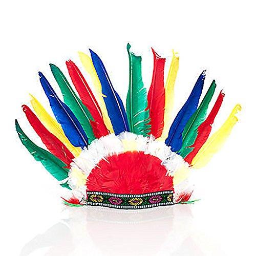 Federn Indianer Kostüm (GYD Indianer Kopfschmuck, Feder-Schmuck für Groß und Klein! Accessory Fasching Karneval zum verkleiden)