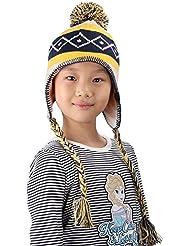 YOPINDO Girls Winter Chapeau chaud Fibres acryliques Pas de pilling Knitted Beanie Earmuffs Cap