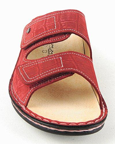 FINN cOMFORT femme pantolette «jamaïque» 2519 rosso nubuck Rouge