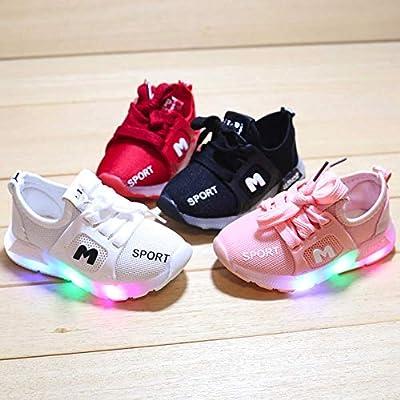 Kinder Schuhe mit Licht LED Schuhe,Sunday Jungen Mädchen Sportschuhe Sneaker Laufschuhe Turnschuhe Trainer Blinkschuhe Kleinkind Schuhe 20-29