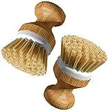 Piatto set di pennelli con manico in legno per piatto tazza pan pot stoviglie da cucina pulizia