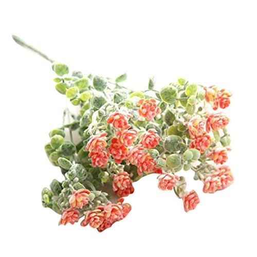 vovotrade 1Künstliche Fake Blumen Milan Camellia Arrangements Bridal Home DIY, Boden Garten Büro Hochzeit Decor Orange