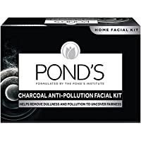 POND'S Charcoal Anti-pollution Home Facial Kit - With Cleanser, Scrub, Revitalizing cream, Massage Cream, Mask…