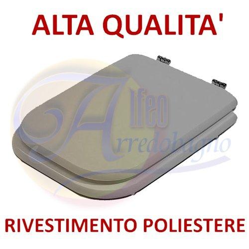 Copriwater ideal standard conca grigio coprivaso poliestere alta qualita'