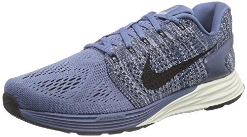 Nike Lunarglide 7, Chaussures de Running Compétition Homme Bleu (Ocean Fog/Black-Blue Grey-Sail)