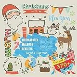 Weihnachten Malbuch Gekritzel. Zu den über 370 Bildern gehörenden Themen gehören: Abenteuer, Tierwelt, Expedition, Herbst, Neugeborenes, Schulanfang, ... Barbecue, Strand und mehr. Große Format