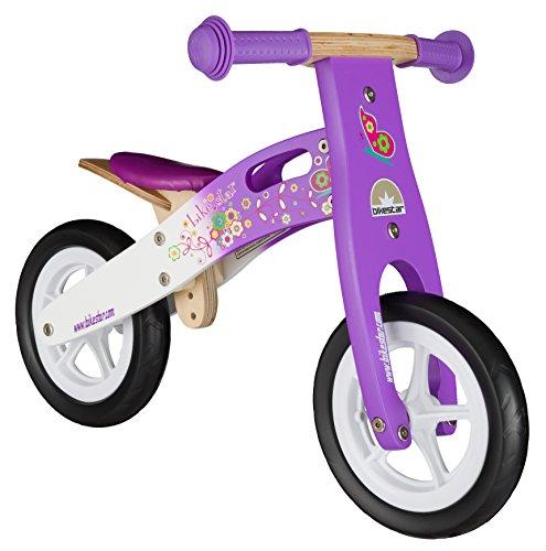 BIKESTAR® 25.4cm (10 pouces) Bois Vélo Draisienne pour enfants ★ Couleur Lilas & Blanc