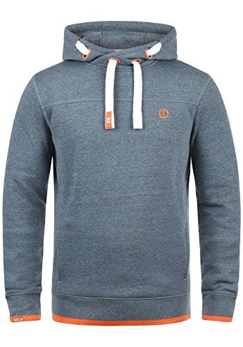 SOLID Benjamin Hood Herren Kapuzenpullover Hoodie Sweatshirt mit Kapuze aus hochwertiger Baumwollmischung Meliert, Größe:M, Farbe:Grey Blue Melange (1946M)