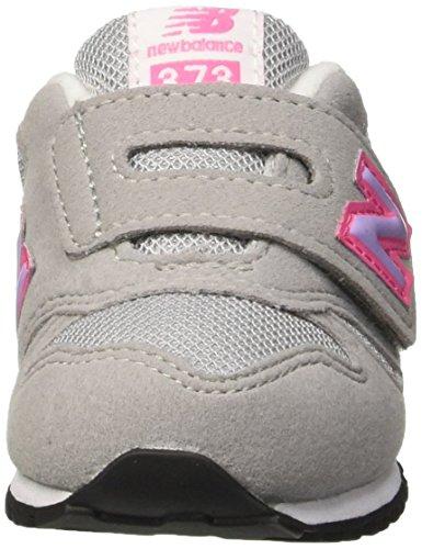 New Balance Nbkv373fli, Debout Chaussures Bébé Fille Jaune (Grey Pink)