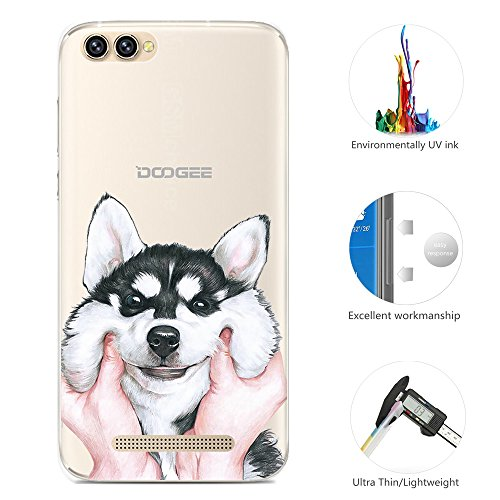 95Street Silikon Hülle für Doogee X30, Ultra-Clear Handyhülle für Doogee X30 Soft TPU Crystal Clear Premium Schutzhülle Case Backcover Bumper Slim Case für Doogee X30