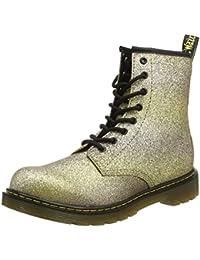 Dr. Martens Unisex-Kinder Delaney Y Gltr Gold Multi Glitter Pu Stiefel