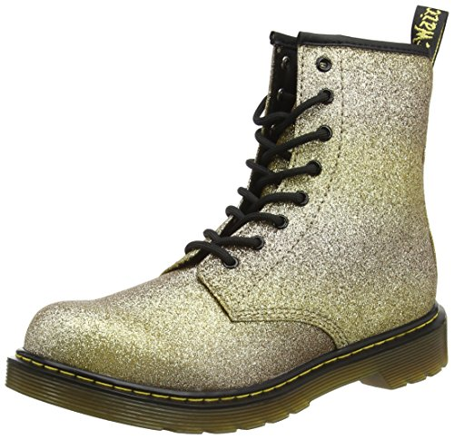 Dr. Martens Unisex-Kinder Delaney Y Gltr Gold Multi Glitter Pu Stiefel, Gold (Gold Multi), 38 EU