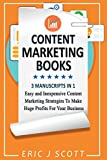 Content Marketing Book: 3 Manuscripts in 1, Easy and Inexpensive Content Marketing Strategies to Make a Huge Impact on Your Business