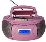 Denver TCP-39PINK CD-Radio, 2 W, Pink (PLL, Player, CD-R, CD-RW, 2 W, LCD, AC/Batterie)