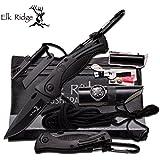 Elk Ridge ER-PK4B - Juego de cuchillos de supervivencia de bolsillo