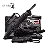Elk Ridge # ER-PK4B - Set di sopravvivenza, con coltello tascabile
