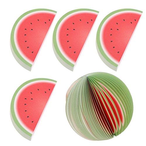 t und Handwerk Hohe Qualität Kraftpapier 3D Obst Memo Haftnotizen 5 Nette Handgemachte Lesezeichen Hochzeit Geburtstag Dekorative - Als Bild - Typ Wassermelone ()