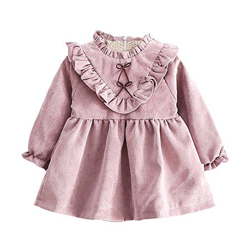 76680b0e9 Mosstars Vestido de Bebe niña Verano Toddler Kids Baby Girls Autumn Long  Manga Princesa Vestido Trajes Ropa Vestido de Princesa Vestido para Bebes  ...