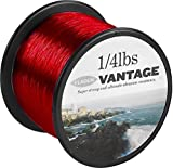 FLADEN VANTAGE PRO Bulk 1/4lb Spools of Extra Strong Monofilament Sea Fishing Line (RED) - comes in 15, 20, 25 & 30lbs