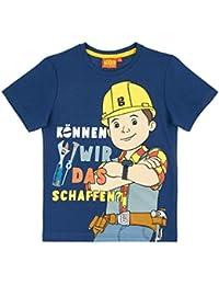 Bob der Baumeister Jungen T-Shirt - Marine Blau